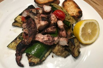 GRILLED OCTOPUS & VEGGIES - Great Neighborhood Cooks