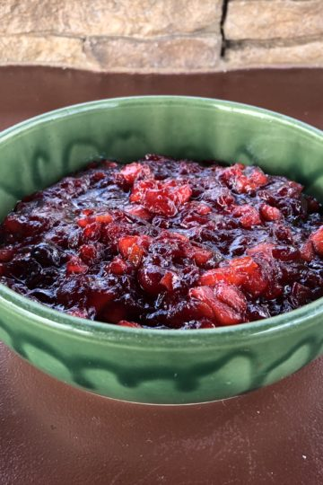Apple-Orange Cranberry Relish