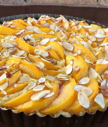 Peach Custard Tart - Great Neighborhood Cooks