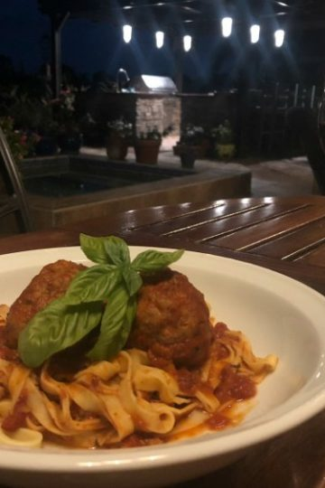 Spaghetti with Veal and Porcini Meatballs - Great Neighborhood Cooks