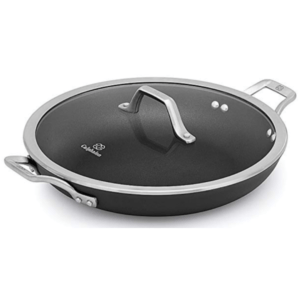 """Calphalon Signature Hard Anodized Nonstick Covered Everyday Chef Pan, 12"""", Black"""