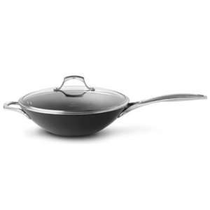 Calphalon Unison Nonstick 13-Inch Flatbottom Wok with Lid
