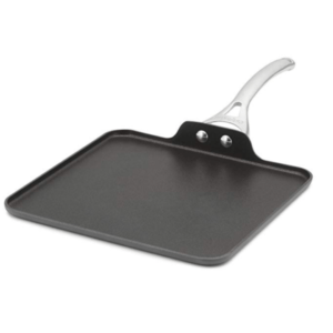 Calphalon Contemporary Hard-Anodized Aluminum Nonstick Cookware, Square Griddle Pan, 11-inch