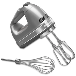 KitchenAid 7-Speed Digital Hand Mixer with Turbo Beater II Accessories and Pro Whisk - Contour Silver
